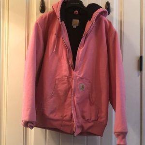 Cute pink women's Carhartt jacket. Size L.